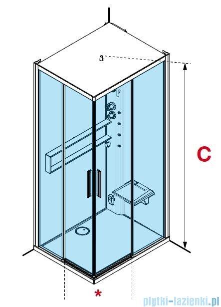 Novellini Glax 2 2.0 kabina z hydromasażem hydro plus 90x90 total biała G22A90M1L-1UU