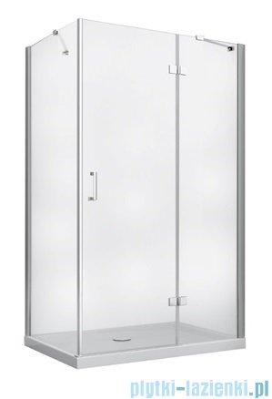 Besco Viva kabina prostokątna prawa z brodzikiem i syfonem 100x80cm przejrzyste VPP-100-195C/BAX-100-80-P