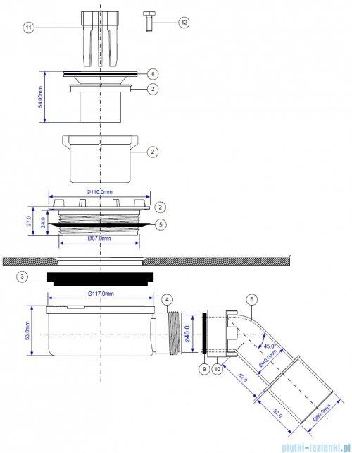 Riho Syfon do brodzika Basel RD120918X01