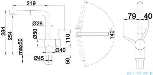 Blanco Linus-s  bateria wysokociśnieniowa kolor: chrom  514016