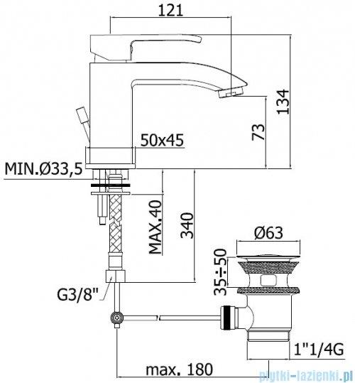 Paffoni Bateria umywalkowa Level Standard LES075CR