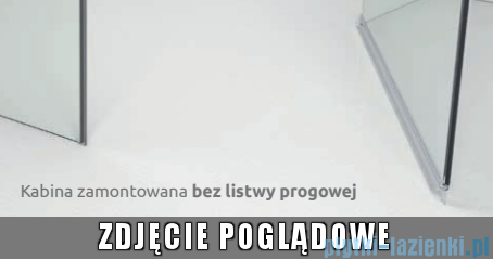 Radaway Kabina prysznicowa Essenza PDD E 90x80 szkło przejrzyste 32532-01-01N