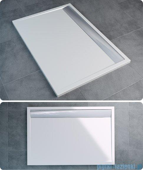 SanSwiss WIA Brodzik konglomeratowy prostokątny 90x140cm biały/biały WIA901400404