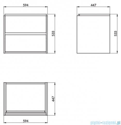 Cersanit Crea szafka wisząca 60x45x53 cm biała S924-003