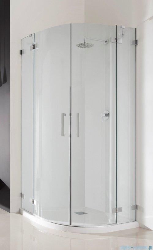 Radaway Euphoria PDD Kabina prysznicowa 80x80 szkło przejrzyste + brodzik Delos A + syfon