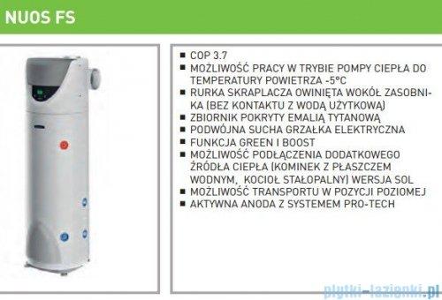 Ariston stojąca pompa ciepła do podgrzewania wody 250 SOL Nuos FS 3210018