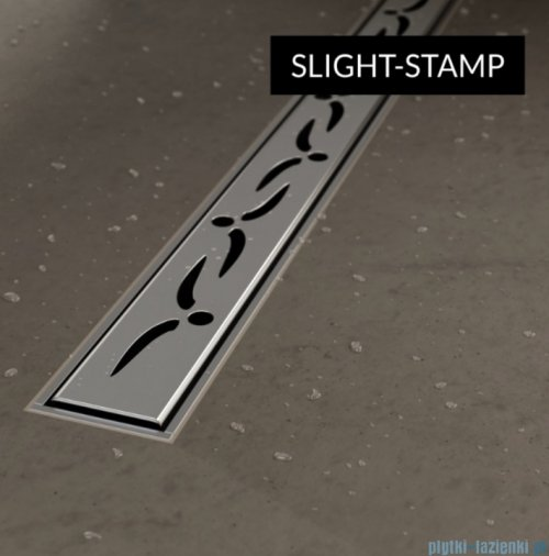 Schedpol Schedline  brodzik posadzkowy podpłytkowy z odpływem liniowym slight stamp 90x90x5/12cm 10ST.1S3-9090