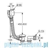 Kludi Rotexa 2000 Zestaw odpływowo-przelewowy G1 1/2 chrom 2140905-00