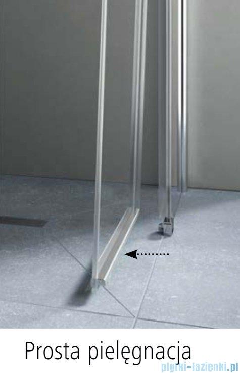 Kermi Pega wejście narożne, jedna połowa z polem stałym, prawa 80 cm, szkło przezroczyste PEC2R08020VPK