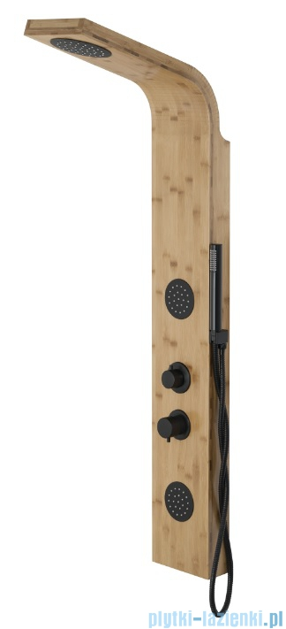 Corsan Bali panel prysznicowy z mieszaczem drewno bambusowe
