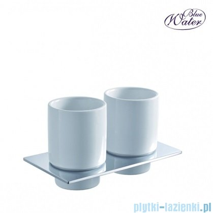 Blue Water Hugo uchwyt z dwoma szklankami chrom