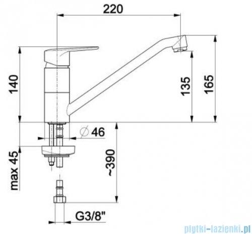 KFA German bateria zlewozmywakowa, kolor chrom 4513-915-00