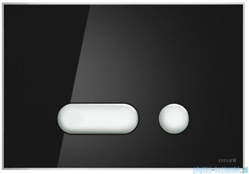 Cersanit Intera przycisk spłukujący 2-funkcyjny szkło czarne S97-023
