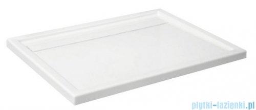 Schedpol Camparo Brodzik prostokątny z klapką odpływu 120x80x6,5cm 3.088/P
