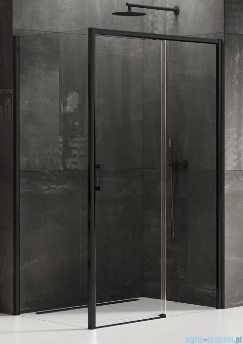 New Trendy Prime Black kabina prostokątna 120x100x200 cm prawa przejrzyste D-0321A/D-0130B