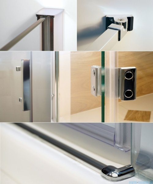 Omnires Manhattan kabina prostokątna 130x120cm szkło przejrzyste detale