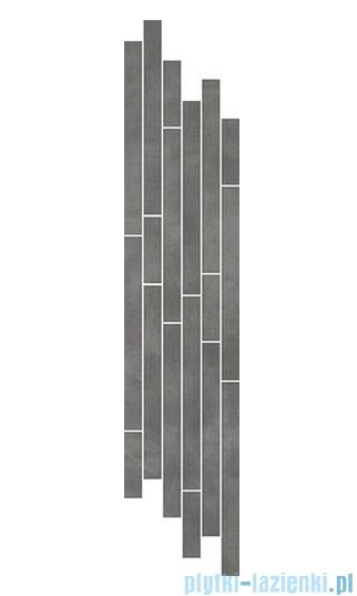 Paradyż Tecniq grafit mix paski listwa 14,8x71