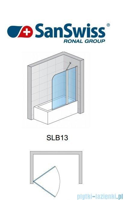 SanSwiss Swing Line SLB1 Parawan 1-częściowy 70cm profil biały Prawy SLB1D07000407