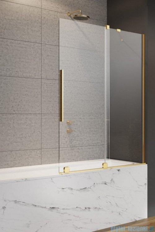 Radaway Furo Gold PND II parawan nawannowy 140cm prawy szkło przejrzyste 10109738-09-01R/10112694-01-01
