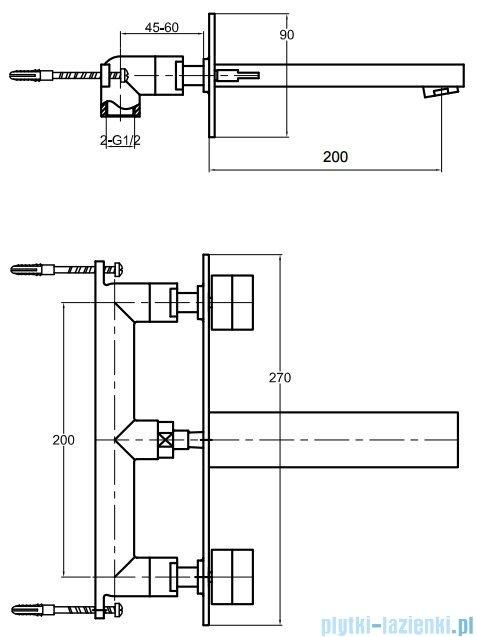 Kohlman Excelent podtynkowa bateria umywalkowa QW198H