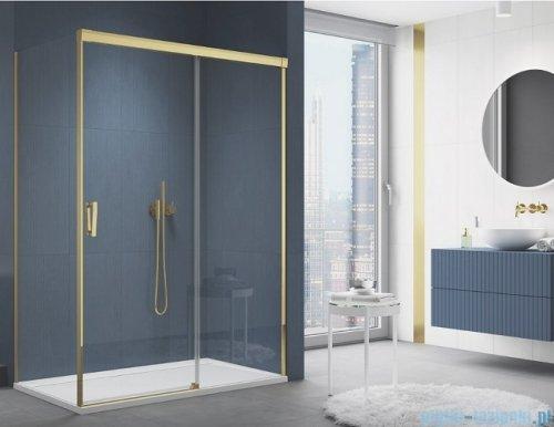 SanSwiss Cadura Gold Line drzwi przesuwne 140cm jednoskrzydłowe prawe z polem stałym CAS2D1401207