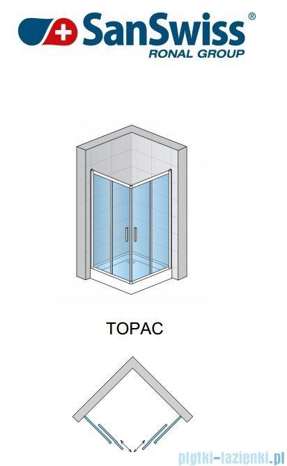 SanSwiss Top-Line TOPAC Wejście narożne 60-90cm profil biały Lewe TOPGSM10407