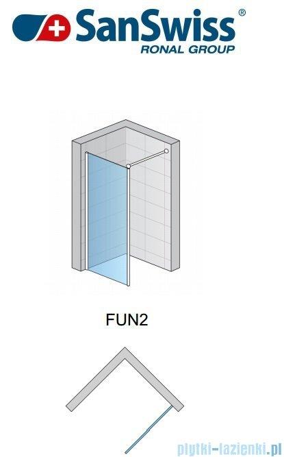 SanSwiss Fun Fun2 kabina Walk-in 40-130cm profil połysk FUN2SM15007