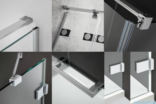 Radaway Euphoria PDD Kabina prysznicowa 80x80 szkło przejrzyste detale