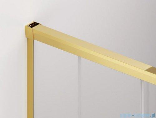 SanSwiss Cadura Gold Line drzwi przesuwne 80cm jednoskrzydłowe lewe z polem stałym CAE2G0801207