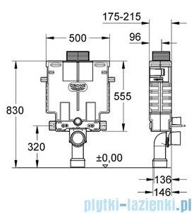 Grohe Uniset do WC ze spłuczką do WC 6-9 l wysokość zabudowy 0,82m 38415001