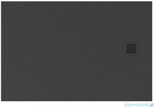 New Trendy Mori brodzik prostokątny z konglomeratu 120x80x3 cm szary