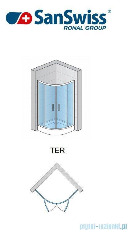 SanSwiss Top-Line Ter Kabina półokrągła 90-120cm profil srebrny TER50SM20107