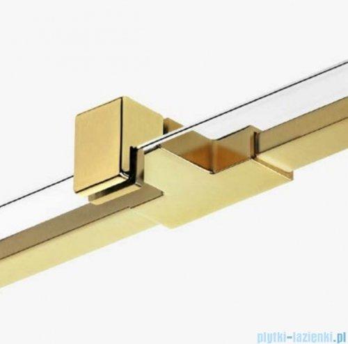 New Trendy Avexa Gold kabina prostokątna 110x100x200 cm przejrzyste prawa EXK-1878