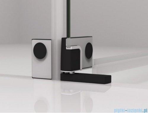 SanSwiss Cadura Black Line drzwi wahadłowe 120cm jednoczęściowe prawe z polem stałym czarny mat CA31CD1200607