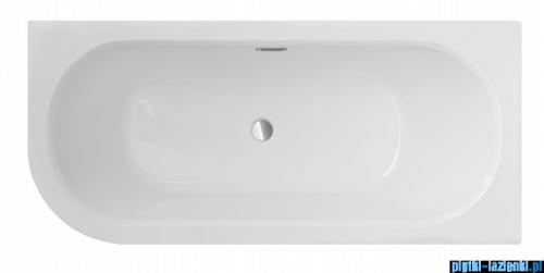 Besco Avita Slim + 170x75cm wanna asymetryczna prawa + syfon #WAV-170-SP+