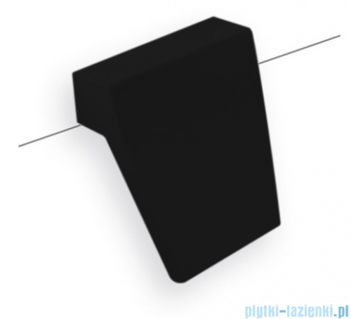 Besco zagłówek Modern / Infinity czarny do wanien ZWMB