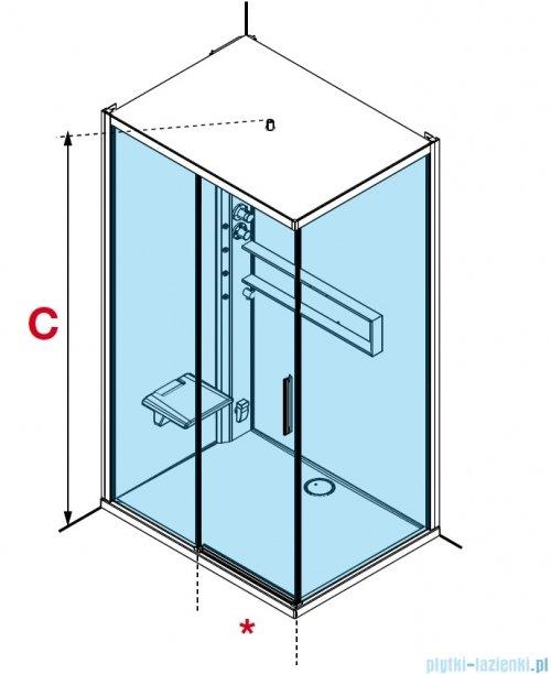Novellini Glax 2 2.0 kabina z hydromasażem 120x90 lewa total biała G222P299SM1-1UU
