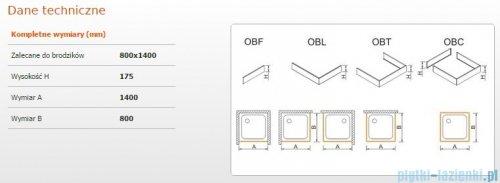 Sanplast Obudowa do brodzika OBL 80x140x17,5 cm 625-403-1370-01-000