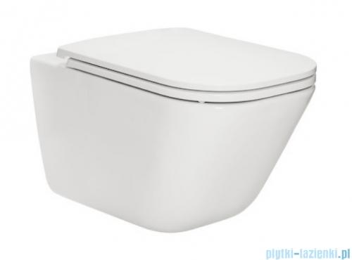 Roca Gap Rimless miska WC wisząca + deska wolnoopadająca Slim