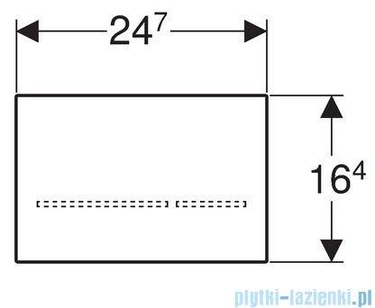 Geberit Sigma80 Elektroniczny zestaw uruchamiający WC 8 cm szkło lustrzane 116.092.SM.1