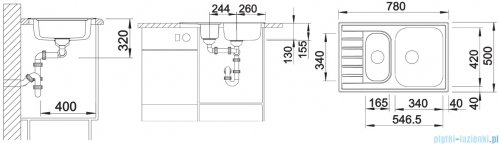 Blanco Livit 6 S Compact zlewozmywak stal szlachetna szczotkowana bez k. aut. 515117