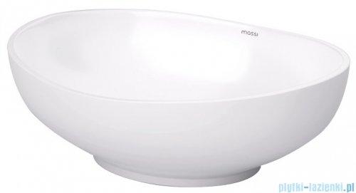 Massi Oval umywalka nablatowa 41x33cm biała