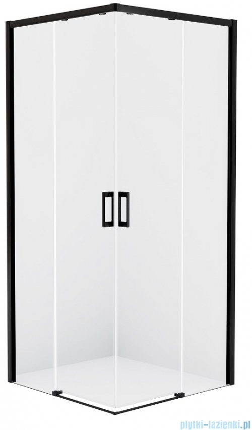 New Trendy Prime Black kabina prostokątna 110x80x200 cm przejrzyste D-0318A/D-0313A