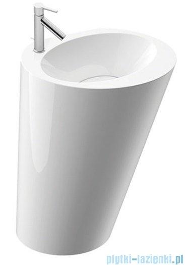 Marmorin Amos S umywalka stojąco-przyścienna z otworem 58x37 cm biały połysk PS0040305820101003