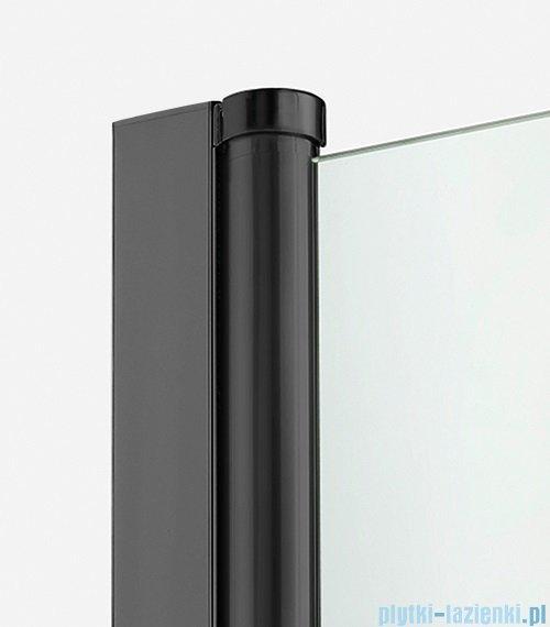 New Trendy New Soleo Black 70x100x195 cm kabina prostokątna wspornik równoległy przejrzyste detale