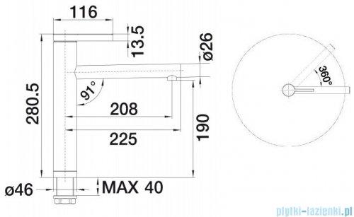Blanco Linee bateria wysokociśnieniowa kolor: stal szlach. matowa  517596