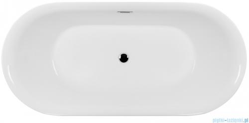 Corsan Olvena wanna wolnostojąca 169x79 cm biała + syfon