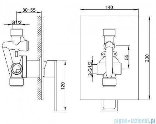 Kohlman Nexen zestaw prysznicowy chrom QW220UQ35