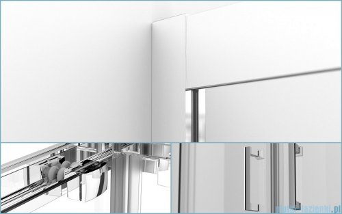 Besco Modern kabina kwadratowa z brodzikiem 90x90cm przejrzyste MK-90-185-C/#BAA-90-K