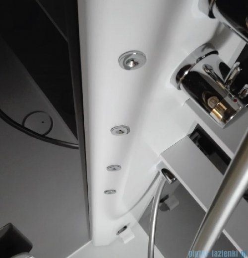 Novellini Glax 2 2.0 kabina z hydromasażem 80x80 prawa total biała G22GF80DT1-1UU